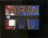 2008 Upper Deck Sweet Spot Swatches Triple #TLPF Albert Pujols Prince Fielder Derrek Lee