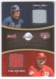2008 Upper Deck Sweet Spot Swatches Dual #DJZ Chipper Jones Ryan Zimmerman