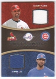 2008 Upper Deck Sweet Spot Swatches Dual #DLP Albert Pujols Derrek Lee