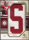 2009 Upper Deck SP Threads Rookie Lettermen Autographs Gold #204 Andre Smith 5/7
