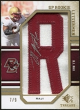 2009 Upper Deck SP Threads Rookie Lettermen Autographs Gold #205 B.J. Raji 7/9