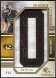 2009 Upper Deck SP Threads Rookie Lettermen Autographs Gold #211 Chase Coffman* Autograph /35