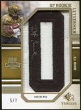 2009 Upper Deck SP Threads Rookie Lettermen Autographs Gold #215 D.J. Moore* Autograph /35