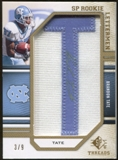 2009 Upper Deck SP Threads Rookie Lettermen Autographs Gold #251 Brandon Tate* Autograph /36