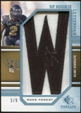 2009 Upper Deck SP Threads Rookie Lettermen College Autographs #252 Alphonso Smith* Autograph /90