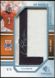 2009 Upper Deck SP Threads Rookie Lettermen College Autographs #259 Vontae Davis* Autograph /72