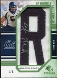 2009 Upper Deck SP Threads Rookie Lettermen College Nickname Autographs #203 Alex Mack* Autograph /66