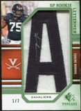 2009 Upper Deck SP Threads Rookie Lettermen College Nickname Autographs #221 Eugene Monroe* Autograph /63