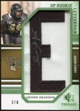 2009 Upper Deck SP Threads Rookie Lettermen College Nickname Autographs #225 Aaron Curry* Autograph /72