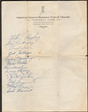 1947 Chicago White Sox Team Signed Sheet on Official Letterhead (PSA COA)