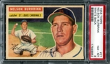 1956 Topps Baseball #27 Nelson Burbrink PSA 8 (NM-MT) *9952