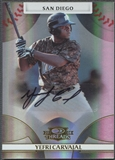 2008 Donruss Threads #87 Yefri Carvajal Signatures Gold Auto #961/999