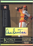 2005 Donruss Signature #6 Don Sutton K-Force Auto