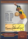 2005 Donruss Signature #93 Dennis Eckersley Position Gold Jersey Auto #42/50