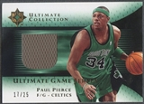 2005/06 Ultimate Collection #UJPP Paul Pierce Gold Jersey #17/25