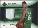 2005/06 Ultimate Collection #UJPGG Gerald Green Gold Patch #06/20