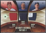 2007 Ultimate Collection #UWG Chase Utley Rickie Weeks Marcus Giles Ultimate Ensemble Triple Patch #01/15