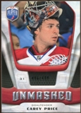 2009/10 Upper Deck Be A Player Goalies Unmasked #GU4 Carey Price /499
