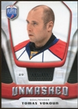 2009/10 Upper Deck Be A Player Goalies Unmasked #GU12 Tomas Vokoun /499