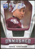 2009/10 Upper Deck Be A Player Goalies Unmasked #GU21 Craig Anderson /499