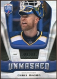 2009/10 Upper Deck Be A Player Goalies Unmasked #GU28 Chris Mason /499