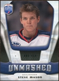 2009/10 Upper Deck Be A Player Goalies Unmasked #GU29 Steve Mason /499