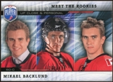 2009/10 Upper Deck Be A Player Meet The Rookies #MR5 Mikael Backlund /499