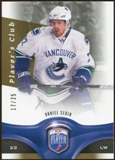 2009/10 Upper Deck Be A Player Player's Club #8 Daniel Sedin 17/25
