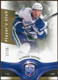 2009/10 Upper Deck Be A Player Player's Club #90 Alexandre Burrows /25