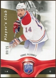2009/10 Upper Deck Be A Player Player's Club #105 Tomas Plekanec /25