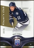2009/10 Upper Deck Be A Player Player's Club #197 David Legwand 19/25