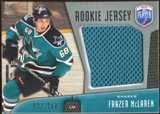 2009/10 Upper Deck Be A Player Rookie Jerseys #RJFM Frazer McLaren /250