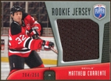 2009/10 Upper Deck Be A Player Rookie Jerseys #RJMC Matthew Corrente /250