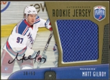2009/10 Upper Deck Be A Player Rookie Jerseys Autographs #RJMG Matt Gilroy Autograph /50