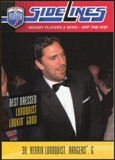 2009/10 Upper Deck Be A Player Sidelines #S14 Henrik Lundqvist