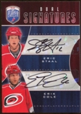 2009 10 Upper Deck Be A Player Signatures Duals #S2CS Eric Staal Erik Cole Autograph
