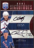 2009 10 Upper Deck Be A Player Signatures Duals #S2DJ Chris Drury Olli Jokinen Autograph