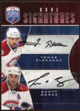 2009/10 Upper Deck Be A Player Signatures Duals #S2GP Scott Gomez/Tomas Plekanec Autograph