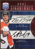 2009/10 Upper Deck Be A Player Signatures Duals #S2HR Mike Richards/Scott Hartnell Autograph