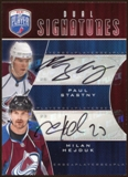 2009 10 Upper Deck Be A Player Signatures Duals #S2HS Milan Hejduk Paul Stastny Autograph