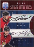 2009/10 Upper Deck Be A Player Signatures Duals #S2SF Jason Spezza/Nick Foligno Autograph