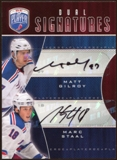 2009 10 Upper Deck Be A Player Signatures Duals #S2SG Marc Staal Matt Gilroy Autograph