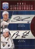 2009 10 Upper Deck Be A Player Signatures Duals #S2SW Shea Weber Ryan Suter Autograph
