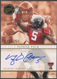 2009 Press Pass #PPMC Michael Crabtree Power Pick Rookie Auto #115/250