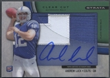 2012 Topps Strata #CCARAL Andrew Luck Clear Cut Green Rookie Patch Auto #55/55
