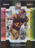 2009 Donruss Elite #122 Clay Matthews Rookie Auto #028/299