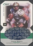 2001 SAGE HIT #A15 Drew Brees Die Cuts Rookie Auto #097/250