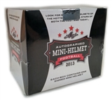 2013 Leaf Autographed Mini Helmet Edition Football Hobby Box