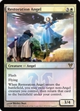Magic the Gathering Avacyn Restored Single Restoration Angel Prerelease FOIL
