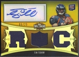 2010 Topps Triple Threads #109A Tim Tebow Gold Rookie Jersey Auto #06/25